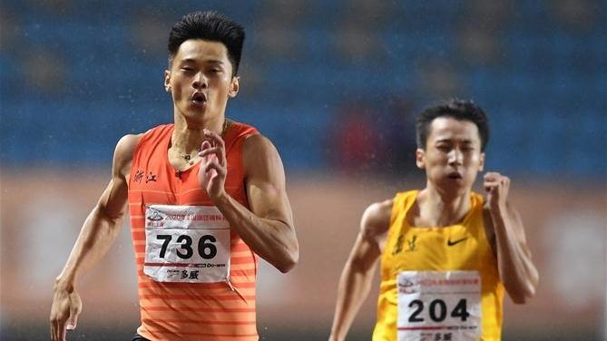 全国锦标赛:男子200米决赛赛况