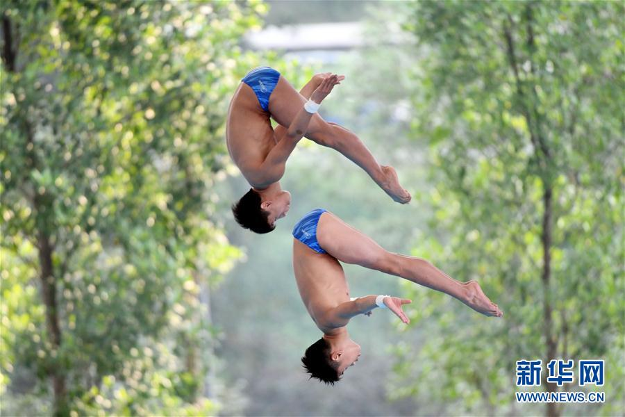 (体育)(3)跳水——亚洲杯:中国选手获男子双人10米跳台冠军