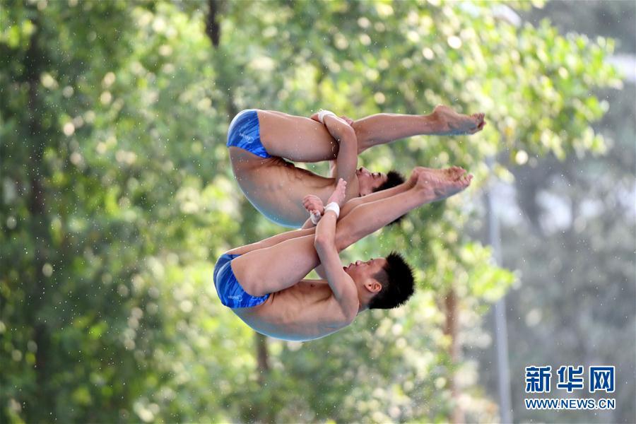 (体育)(1)跳水——亚洲杯:中国选手获男子双人10米跳台冠军